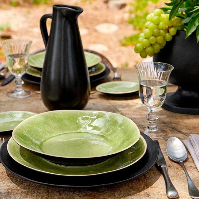 Тарелка для супа Costa Nova Riviera из керамики зеленого цвета