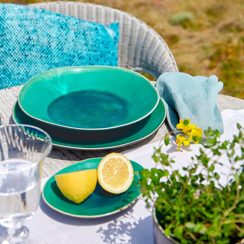 Тарелка для супа Costa Nova Riviera голубого цвета