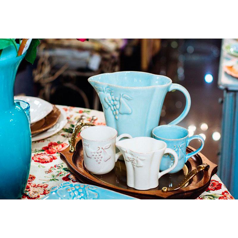 Голубые чашки для чая Costa Nova Mediterranea 6шт