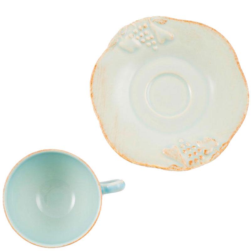 Чайная чашка с блюдцем Costa Nova Mediterranea