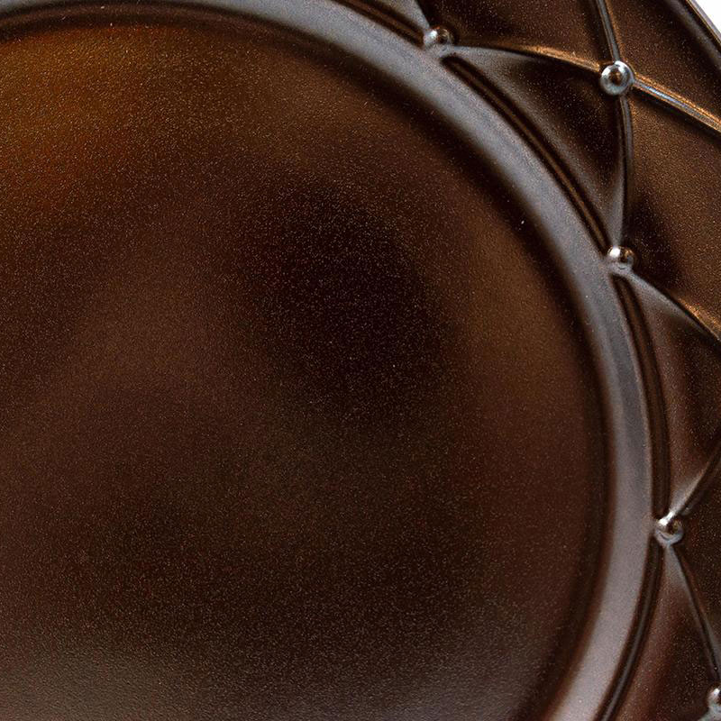 Тарелка обеденная Costa Nova Meridian металлик 27см