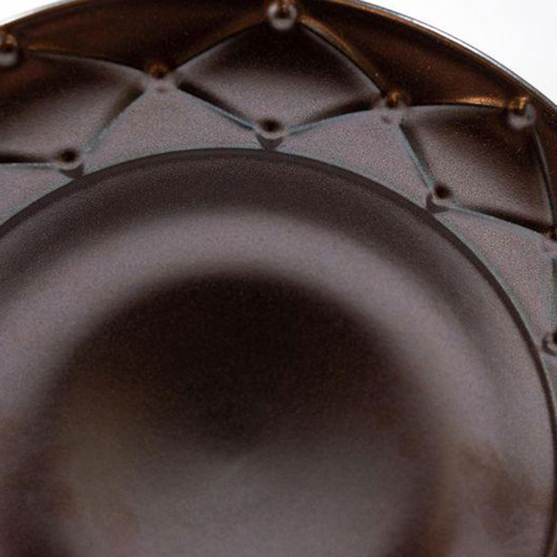 Тарелка для супа Costa Nova Meridian металлик 23см