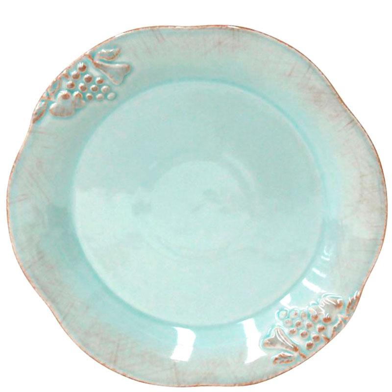 Тарелка для салата Costa Nova Mediterranea бирюзового цвета