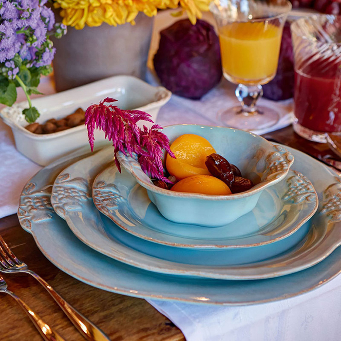 Тарелка для салата Costa Nova Mediterranea бирюзовая 21см