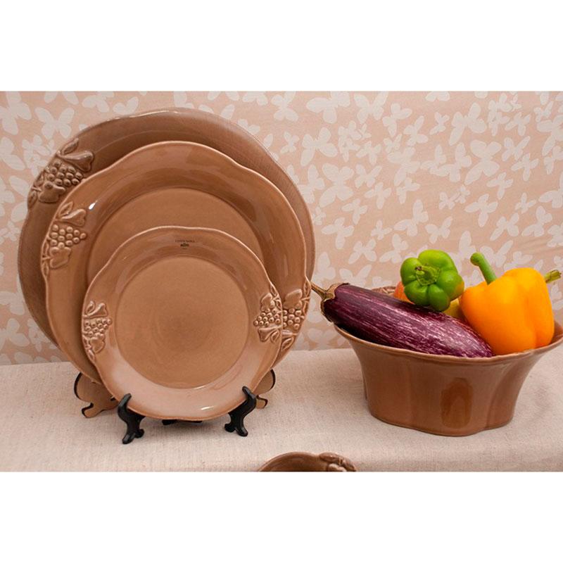 Коричневая тарелка Costa Nova Mediterranea из коричневой керамики