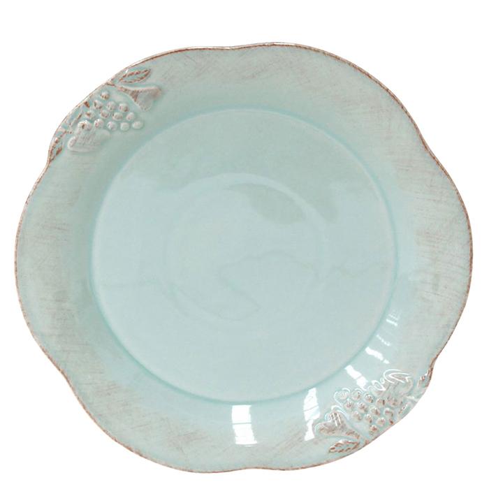 Тарелка обеденная Costa Nova Mediterranea бирюзового цвета 30см