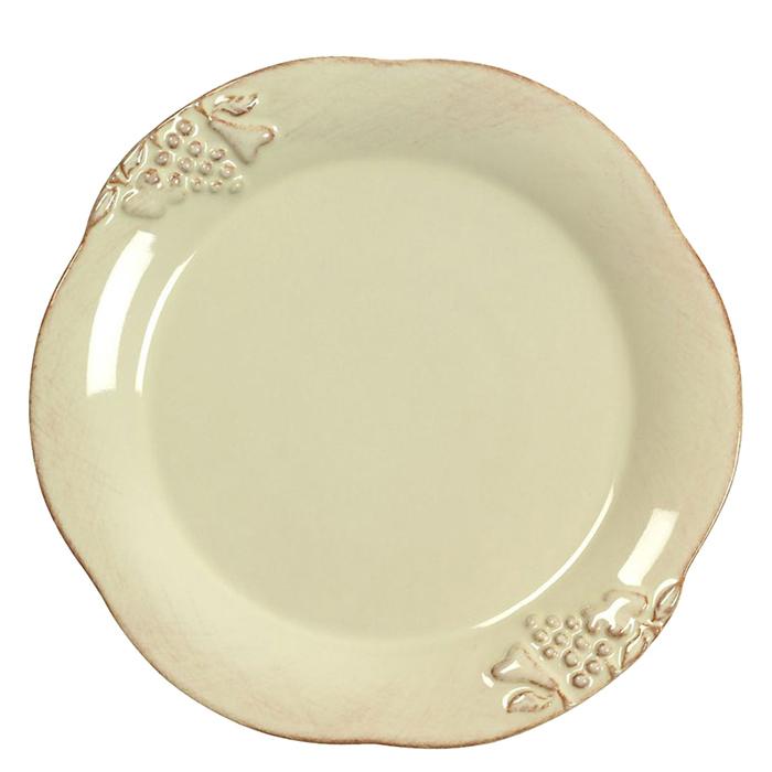 Тарелка обеденная Costa Nova Mediterranea бежевого цвета 30см