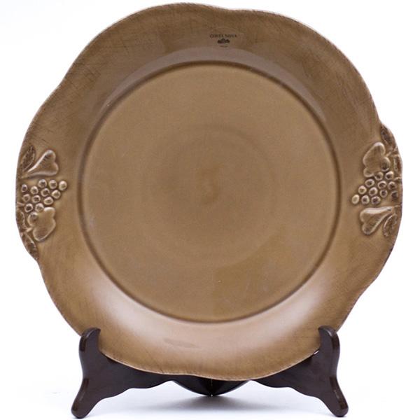Тарелка обеденная Costa Nova Mediterranea 30см коричневая