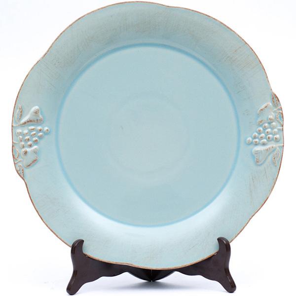 Набор из 6 тарелок Costa Nova Mediterranea 34см голубого цвета