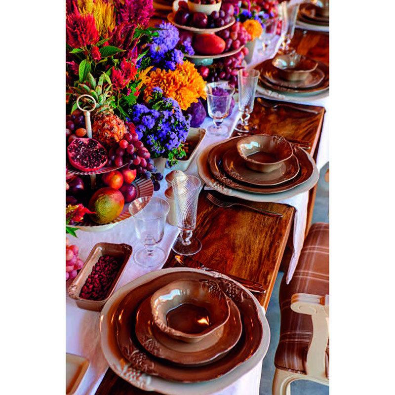 Большое блюдо Costa Nova Mediterranea коричневого цвета