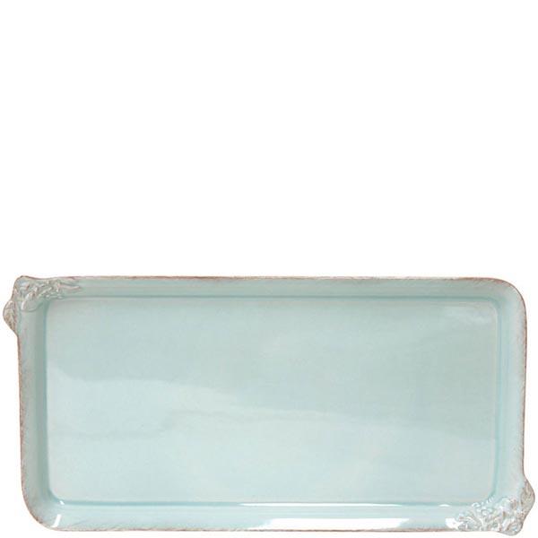 Блюдо прямоугольное Costa Nova Mediterranea голубого цвета 42х21см