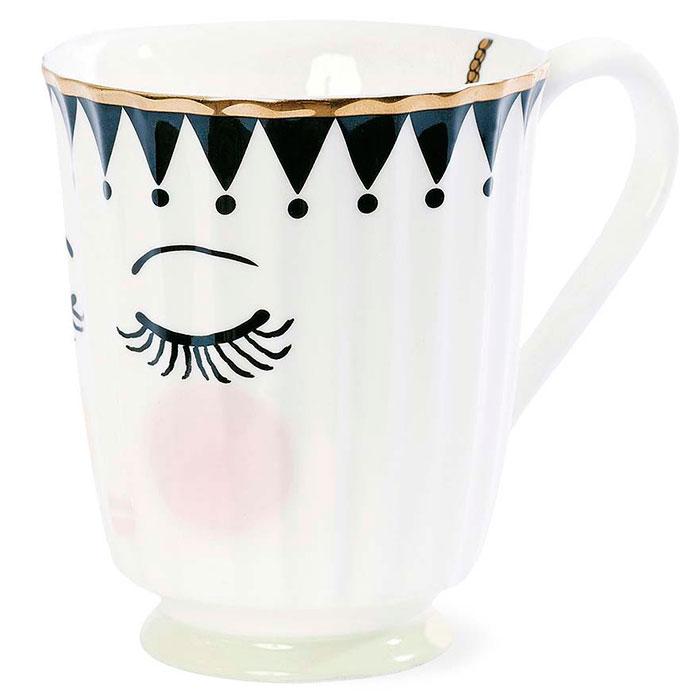 Керамическая кружка Miss Etoile с закрытыми глазками