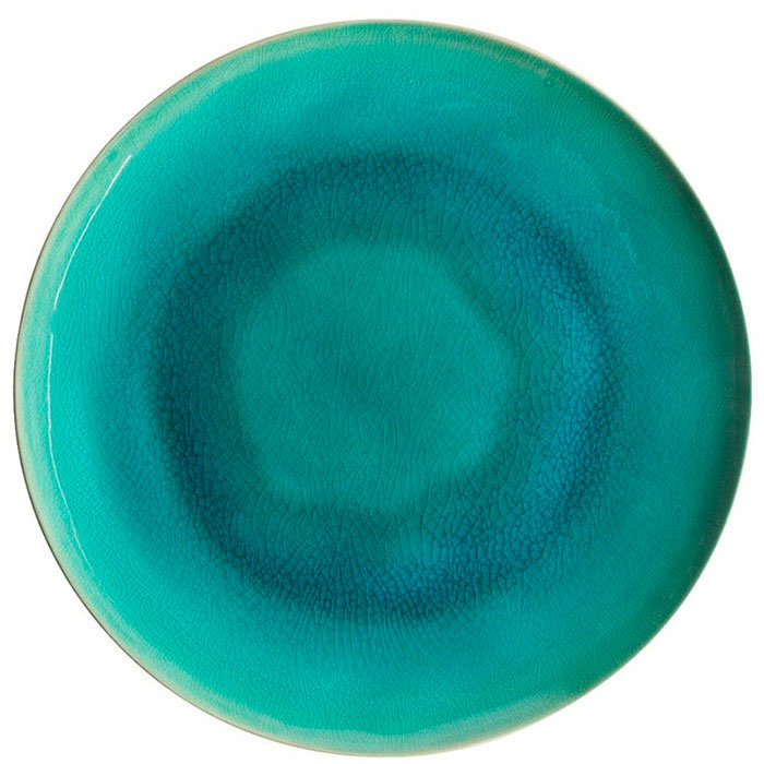 Обеденная тарелка Costa Nova Riviera голубого цвета