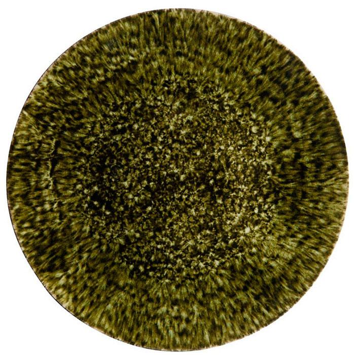 Темно-зеленая керамическая тарелка Costa Nova Riviera