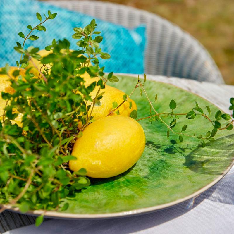Подставная тарелка Costa Nova Riviera зеленого цвета