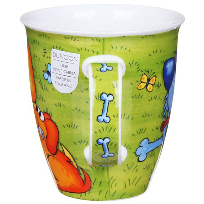Чашка Dunoon Nevis Dogs n puppies Green