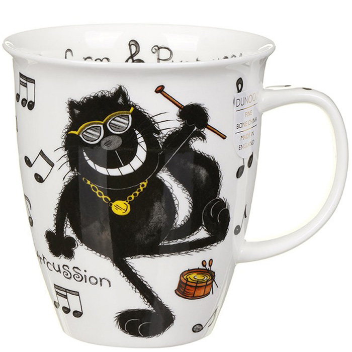 Чашка Dunoon Nevis Purrfect Cats Purrcussion 0.48 л