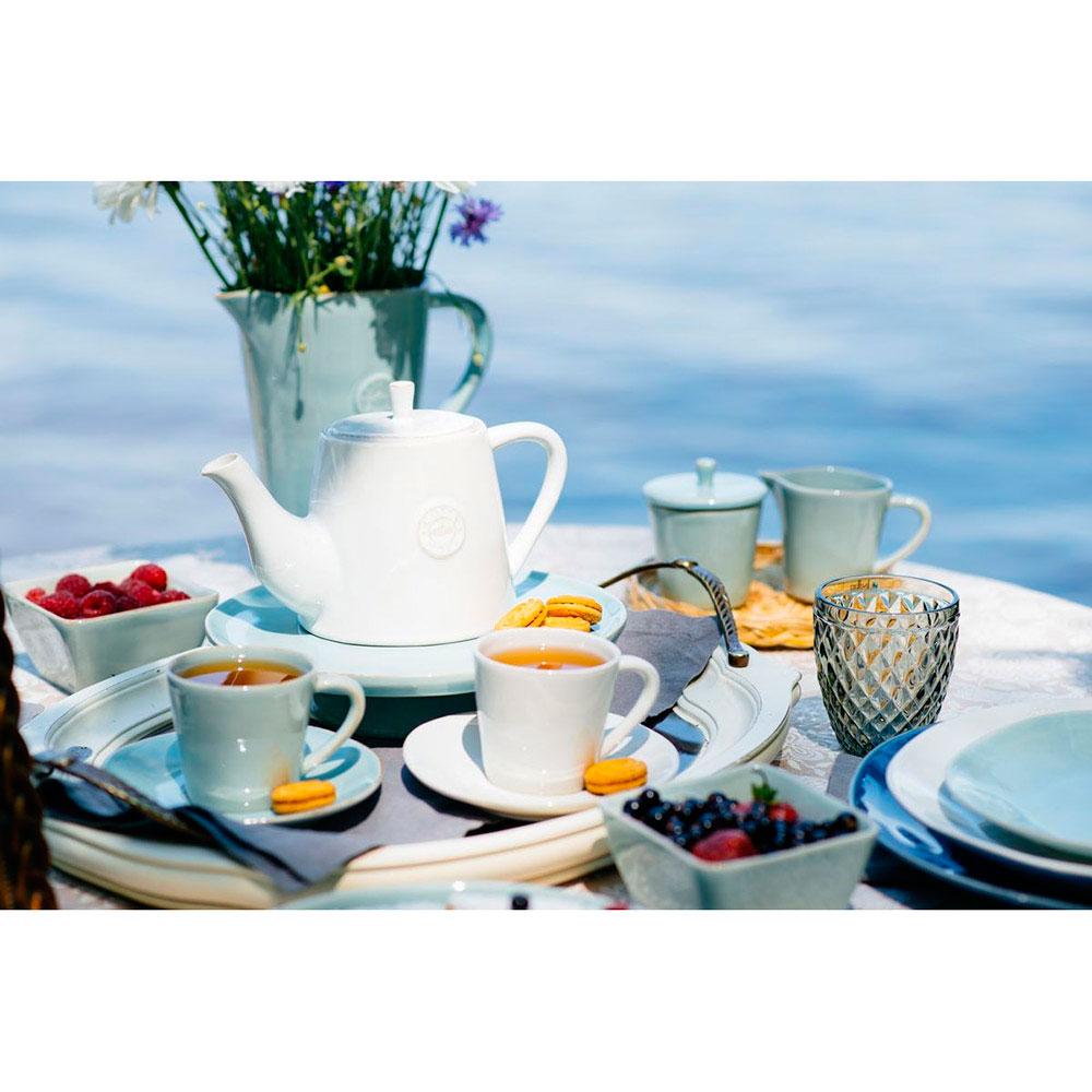 Набор кофейных чашек с блюдцами Costa Nova Nova бирюзового цвета на 6 персон