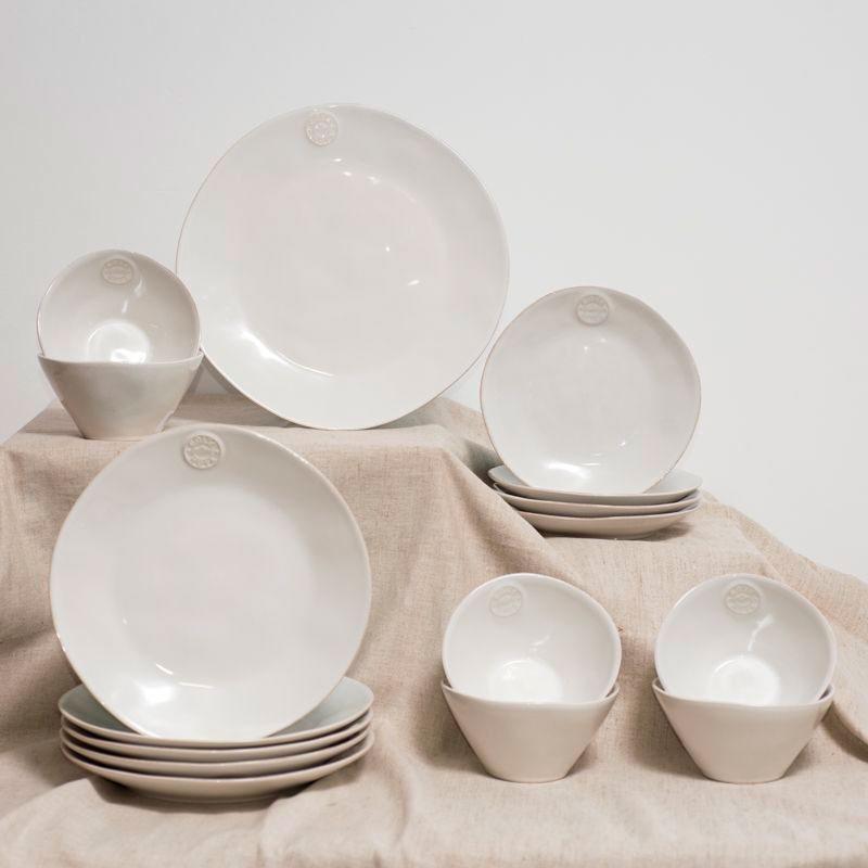Керамическая десертная тарелка Costa Nova Nova белого цвета
