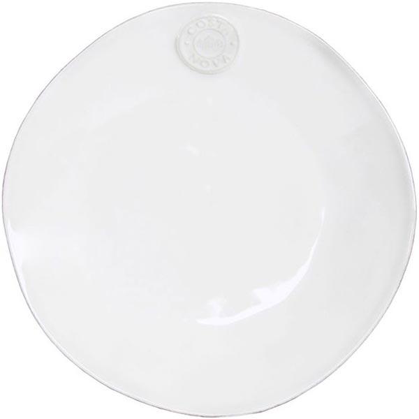 Набор из 6 десертных тарелок белого цвета Costa Nova Nova 21.1см
