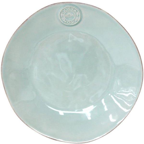Набор из 6 десертных тарелок голубого цвета Costa Nova Nova 21.1см