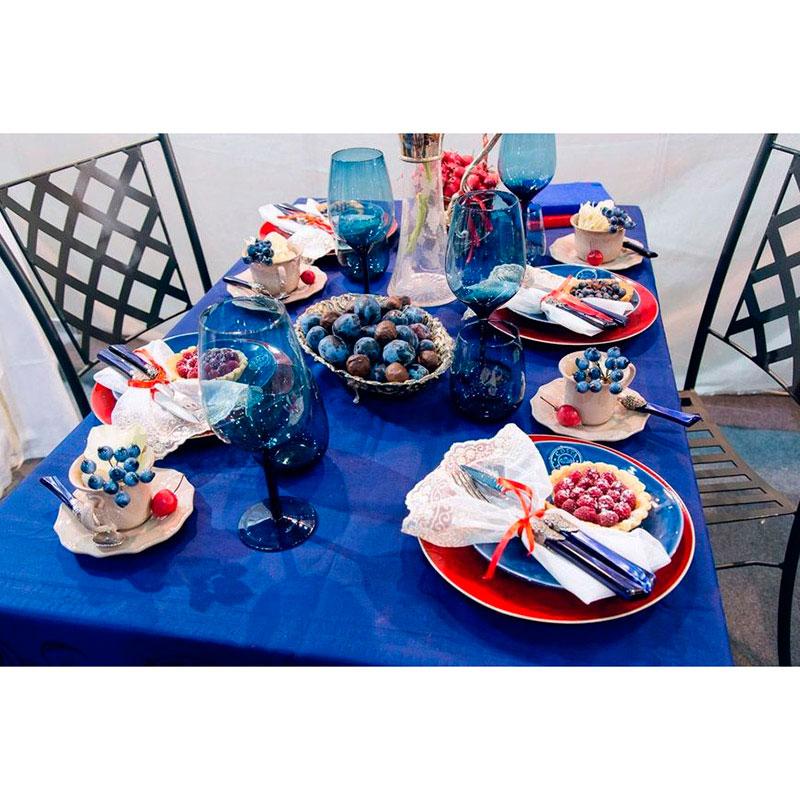 Синяя десертная тарелка Costa Nova NovaNova из керамики