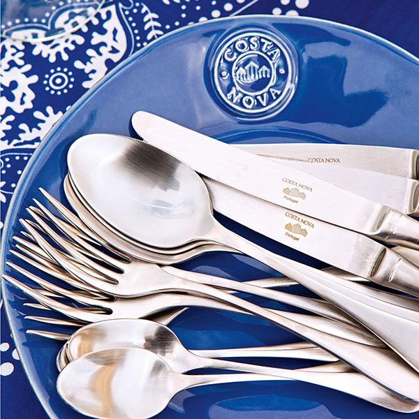 Набор из 6 десертных тарелок синего цвета Costa Nova Nova 21.1см