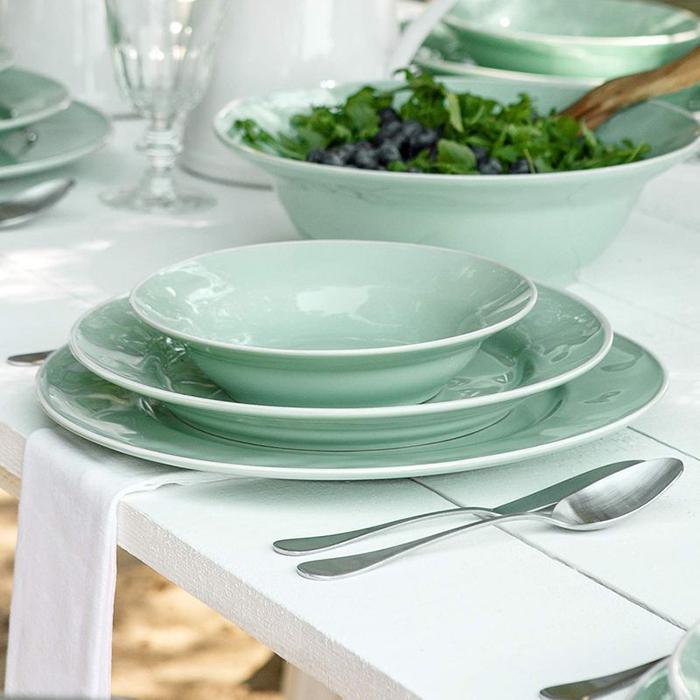 Набор из 6 тарелок для супа Costa Nova Nova бирюзового цвета 790мл