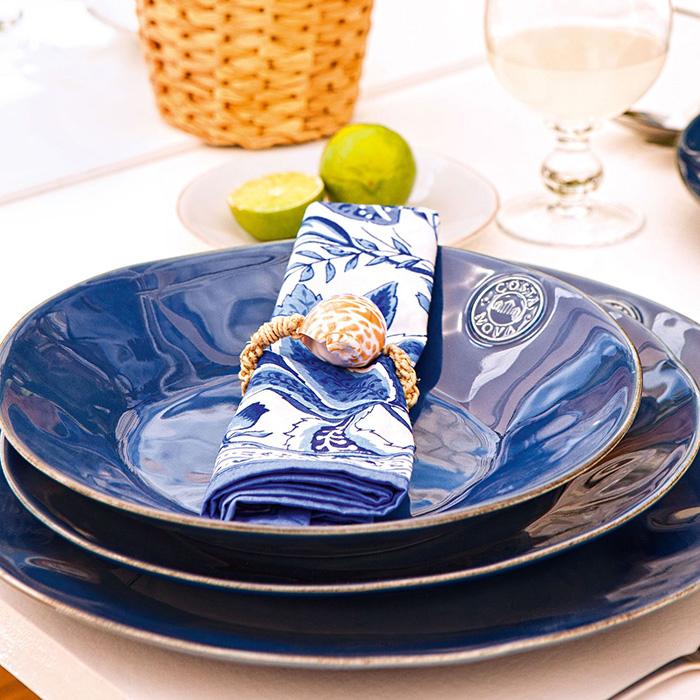 Тарелка для супа Costa Nova Nova синяя 790мл