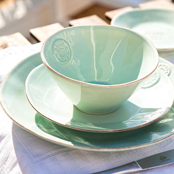 Набор из 6 тарелок Costa Nova Nova голубого цвета 27.2х27.2см