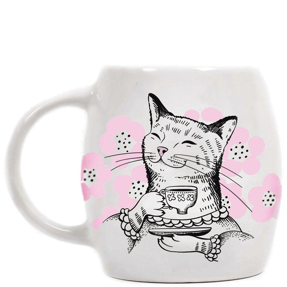 Чашка Orner Store Кошка с чаем
