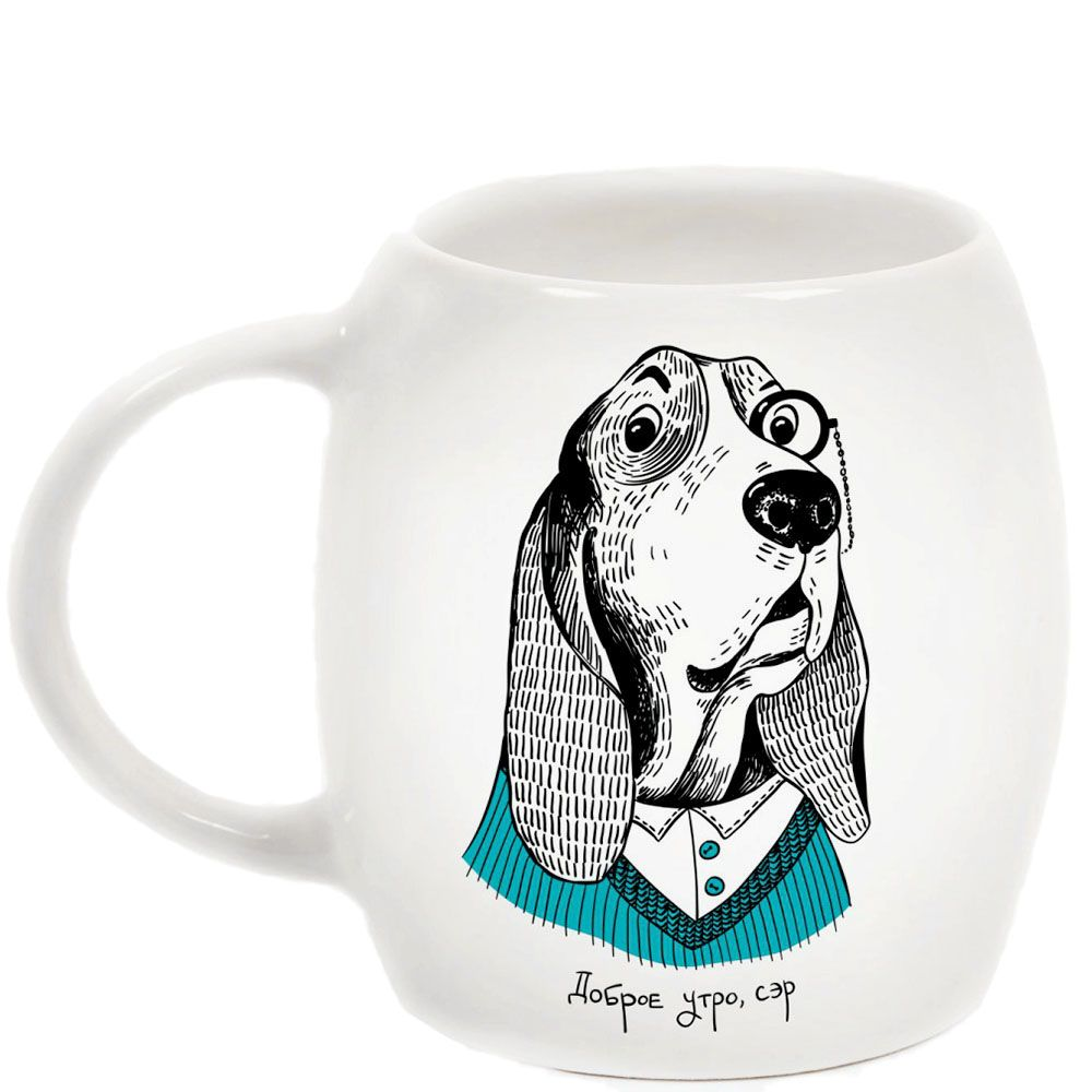 Чашка Orner Store Собака-дворецкий