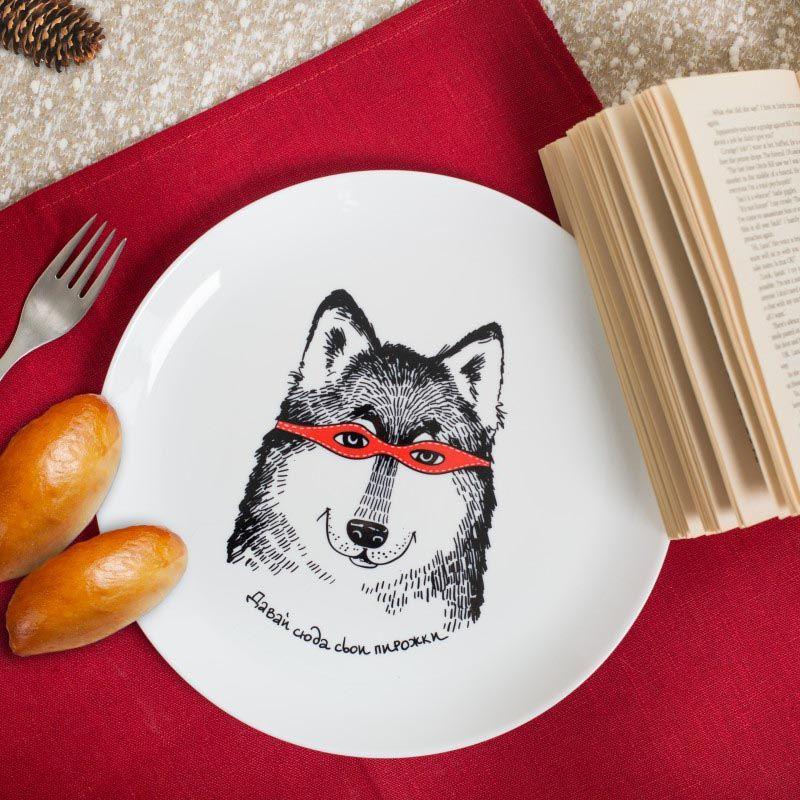 Тарелка Orner Store Волк-разбойник