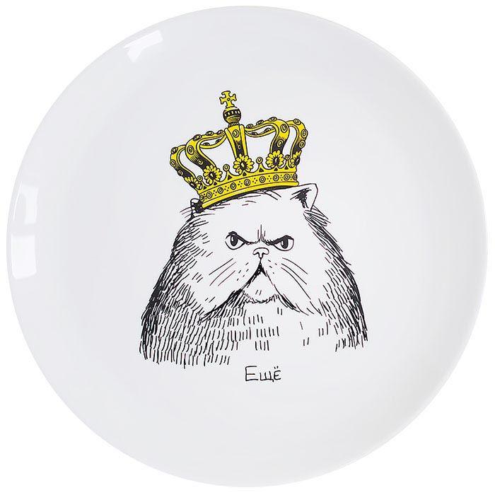 Тарелка Orner Store Кот в короне