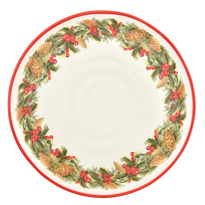 Тарелка обеденная Villa Grazia Зимний букет 29см
