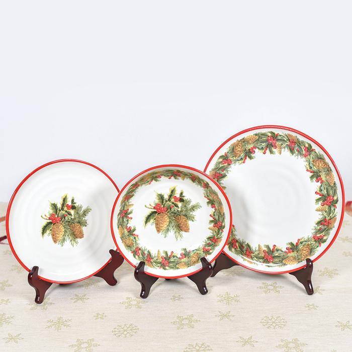 Набор обеденных тарелок Villa Grazia Зимний букет на 6 персон