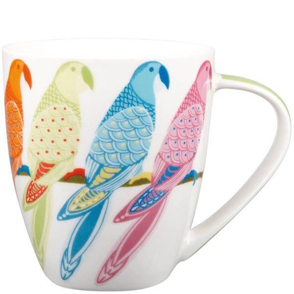 Кружка Churchill Couture 0.5 л с разноцветными попугаями