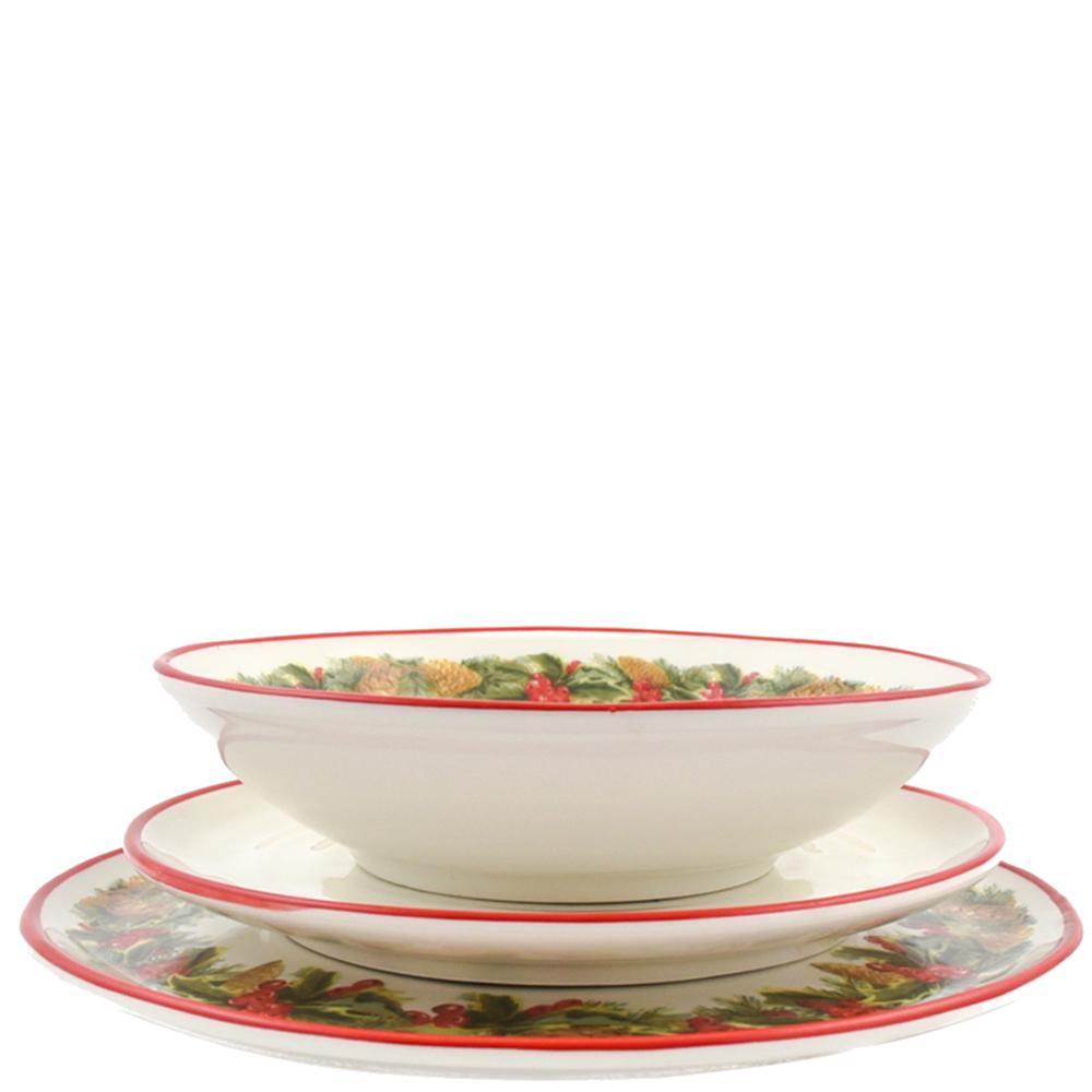 Тарелка для салата Villa Grazia Зимний букет 23см