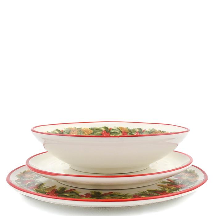 Набор тарелок для салата Villa Grazia Зимний букет на 6 персон