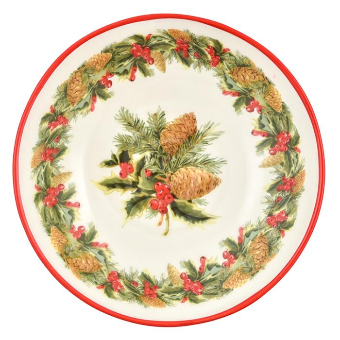 Тарелка для супа Villa Grazia Зимний букет 22см