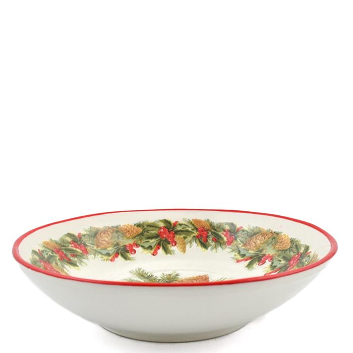 Набор тарелок для супа Villa Grazia Зимний букет на 6 персон