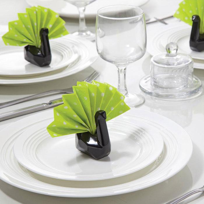 Подставки для салфеток Peleg Design Swans черные 6шт