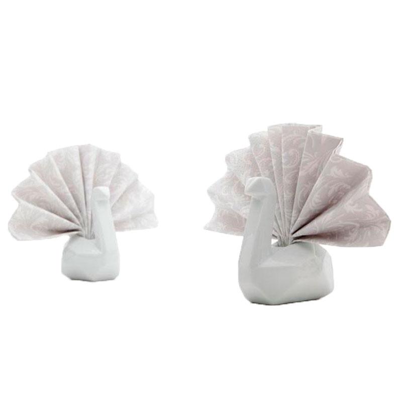 Подставки для салфеток Peleg Design Swans белые 6шт