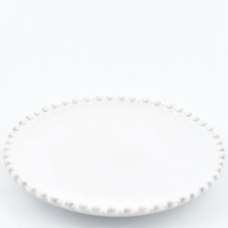 Блюдце белое Costa Nova Pearl 17см
