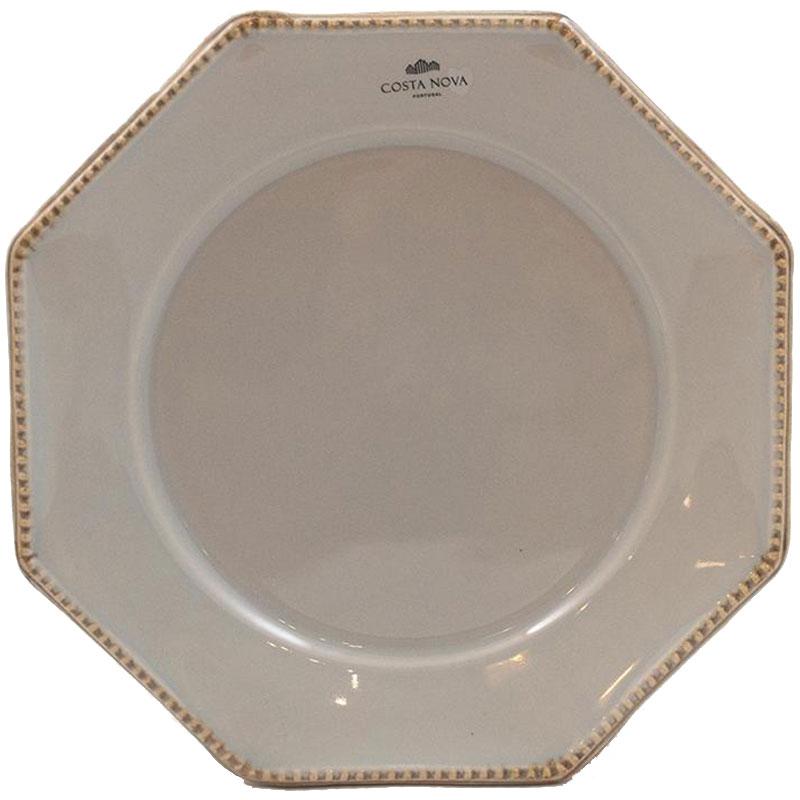 Тарелка для салата Costa Nova Luzia светло-серая 21см