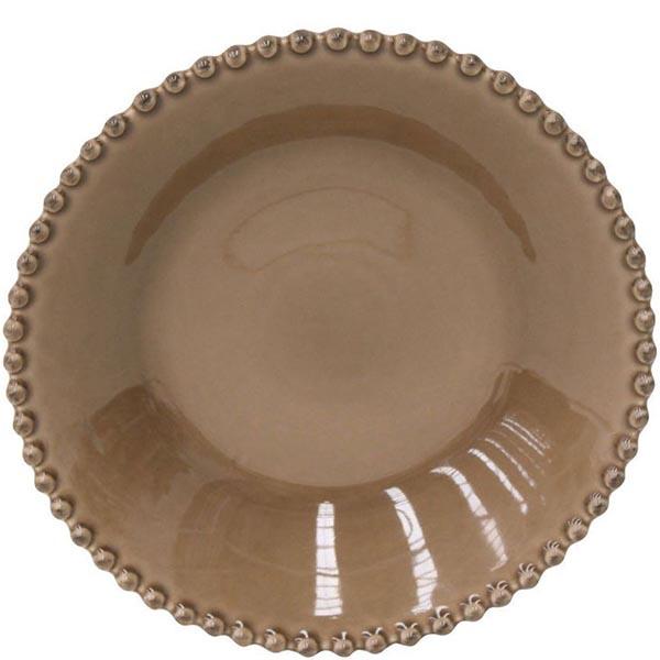 Тарелка для супа Costa Nova Pearl коричневая 24см