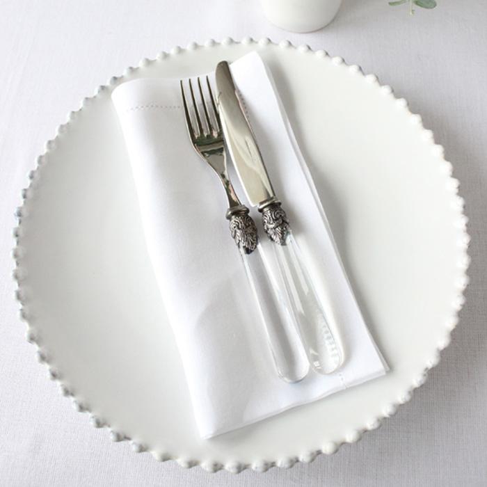 Тарелка обеденная Costa Nova Pearl белого цвета 28см