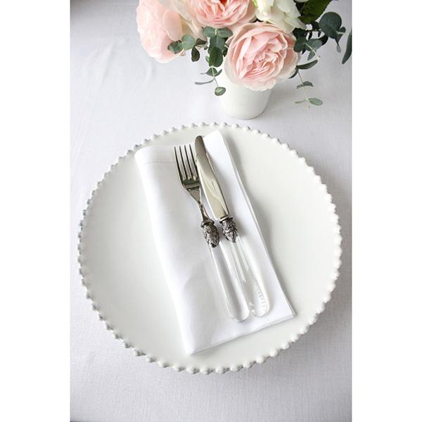 Тарелка обеденная Costa Nova Pearl 28см белая