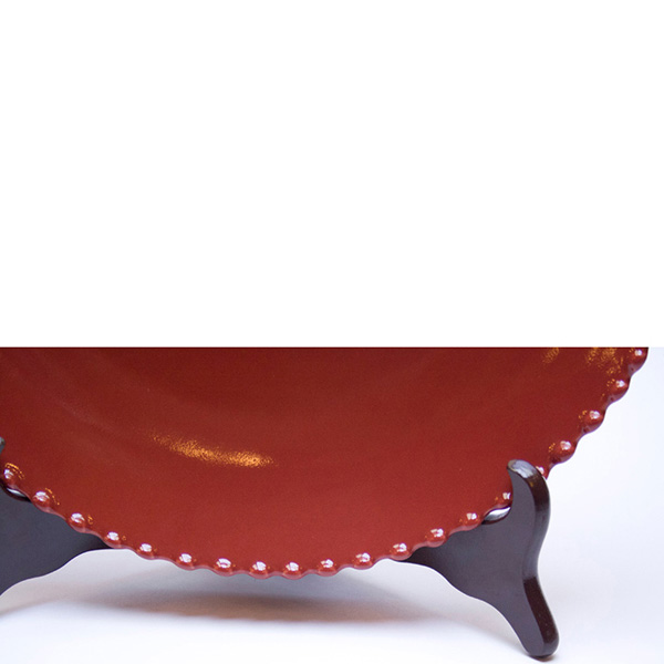 Тарелка красная Costa Nova Pearl 28см