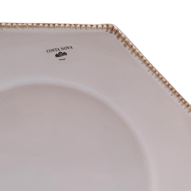 Тарелка обеденная Costa Nova Luzia светло-серая 30см